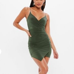 Missguided Olive Bodycon Dress